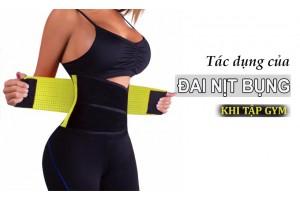 Tác dụng của đai nịt bụng khi tập gym